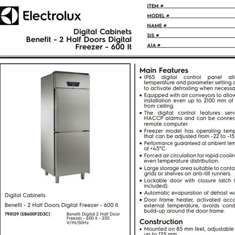2 Half Doors Digital Freezer
