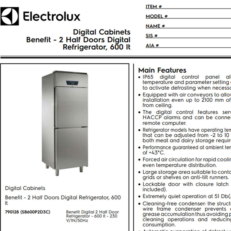 2 Half Doors Digital Refrigerator