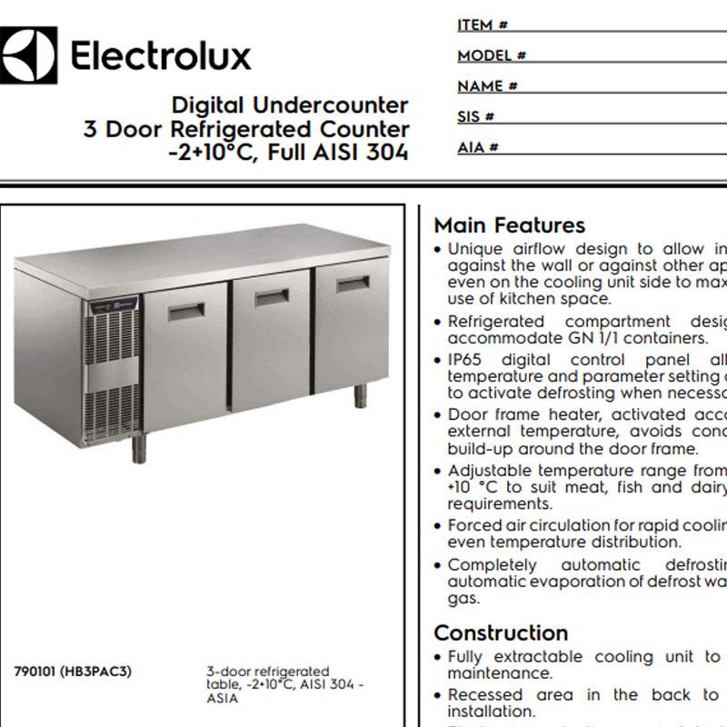 3 Door Refrigerated Counter