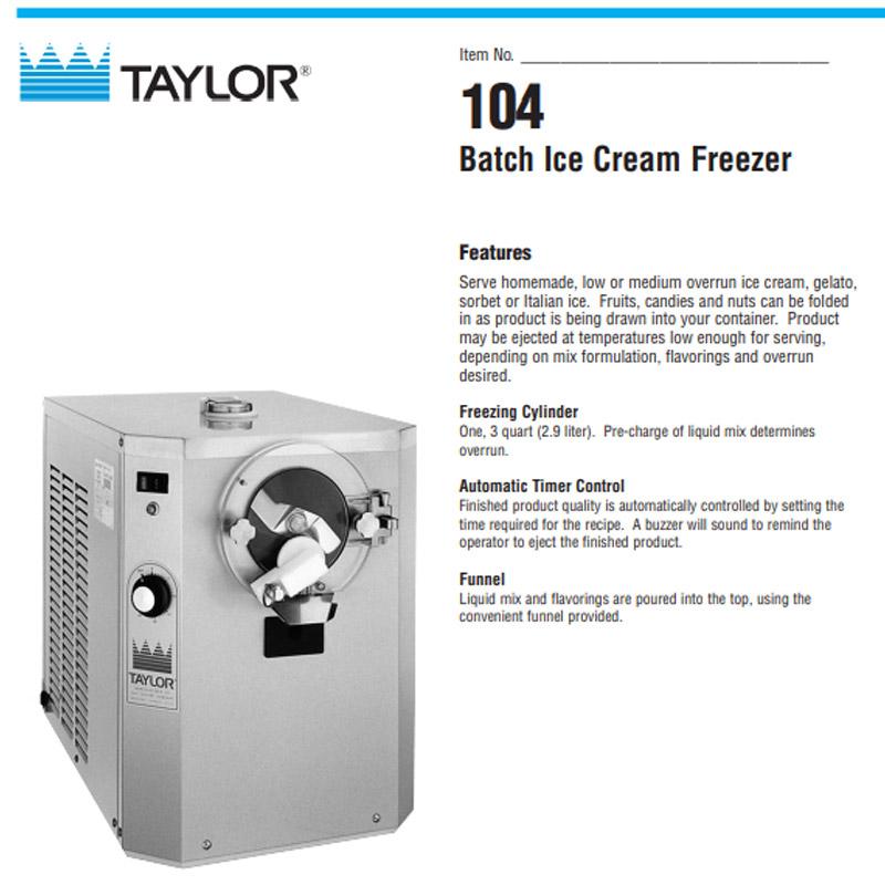 Batch Ice Cream Freezer