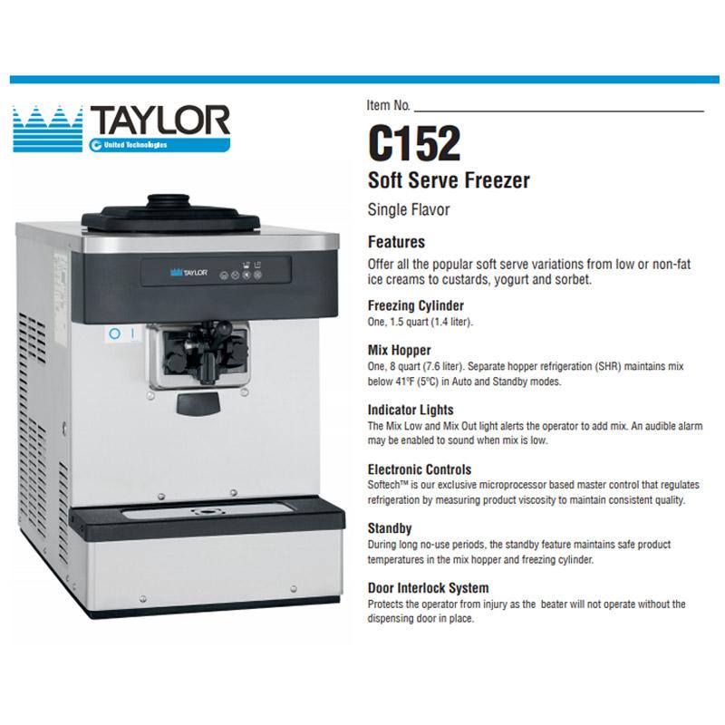 C 152 Soft Serve Freezer