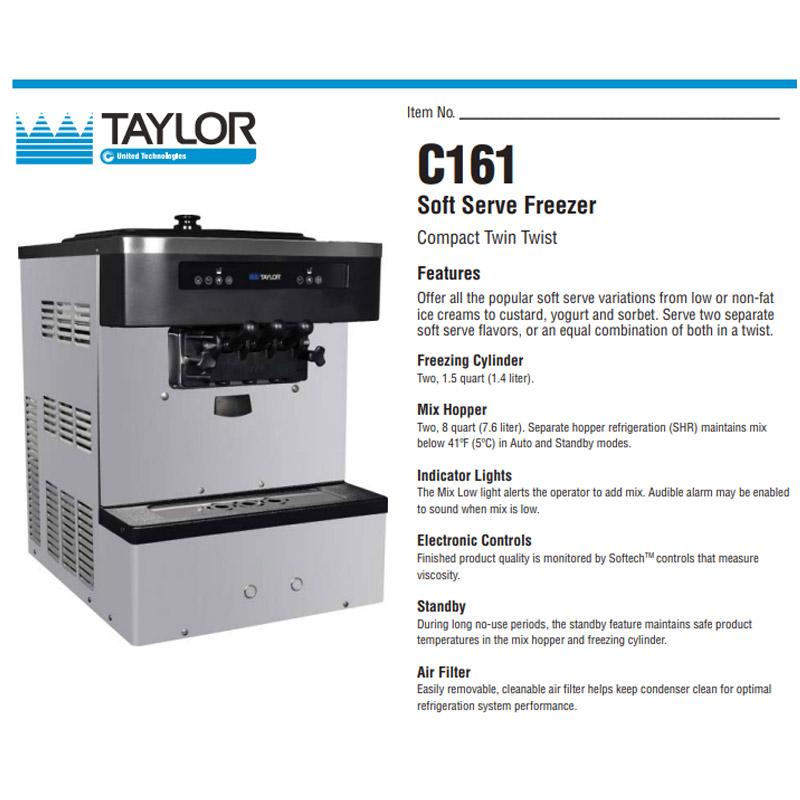 C 161 Soft Serve Freezer