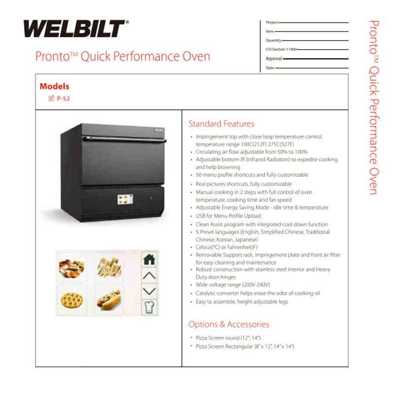 Welbilt Product Catalogue